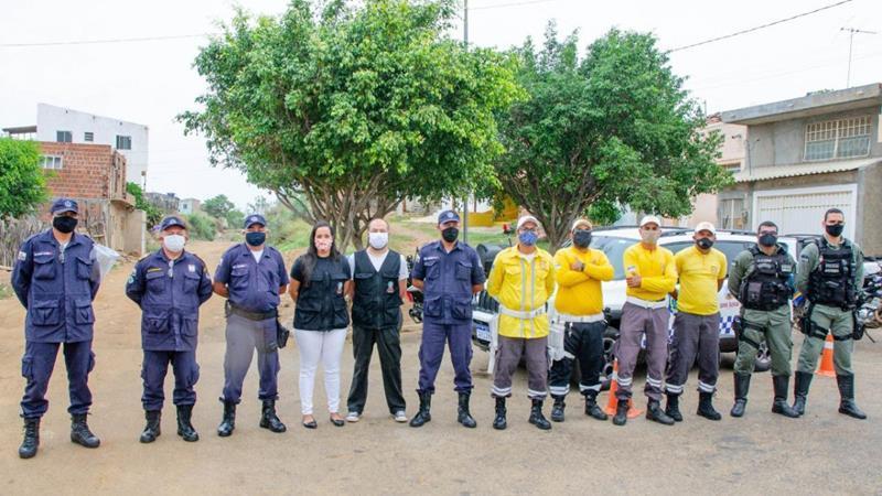 Serra Talhada implanta barreiras sanitárias móveis contra o coronavírus