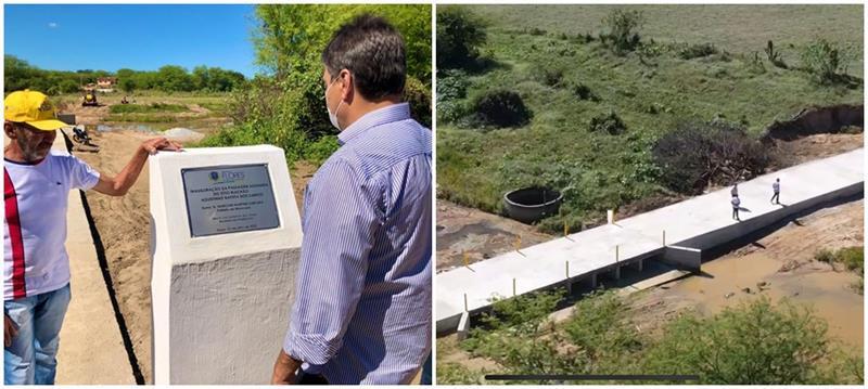 Em Flores, administração municipal entrega a sexta passagem molhada