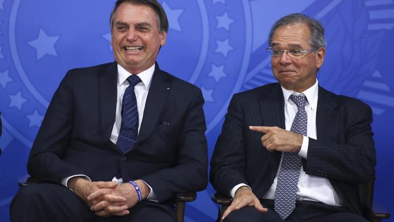 """Bolsonaro nega saída de Guedes: """"Chegamos juntos e sairemos juntos"""""""