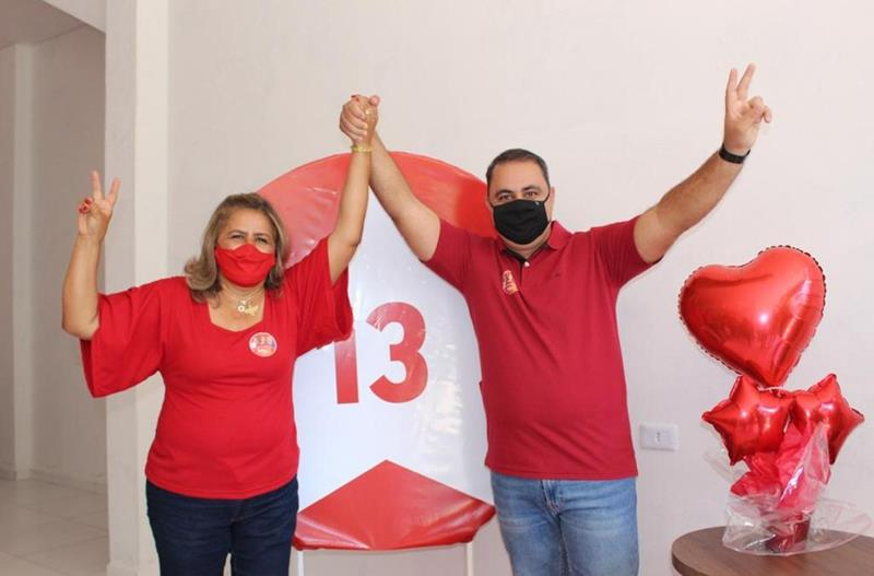Calumbi: Sandra e Gustavo Melo, candidato a vice, inauguram o comitê 13