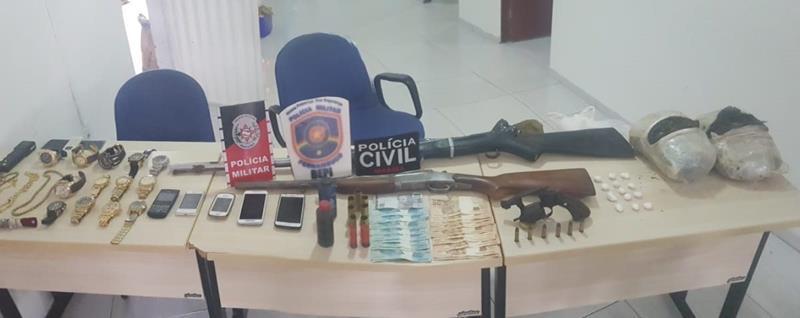 Ação policial apreende armas e drogas em Flores e Princesa Isabel-PB