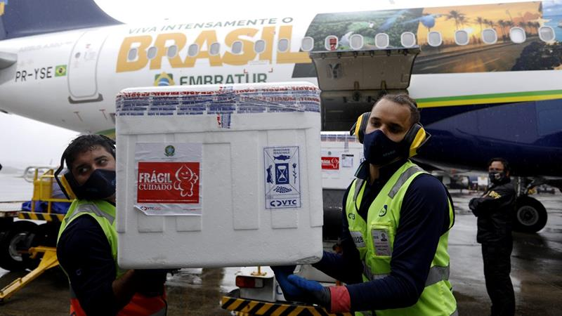 Pernambuco recebe 136 mil imunizantes contra a Covid-19