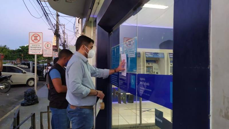 Vigilância Sanitária interditada agência da Caixa Econômica Federal em Serra Talhada