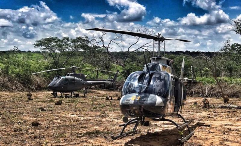 Com uso de helicópteros policiais fazem operação no distrito de Fátima; pessoas foram presas