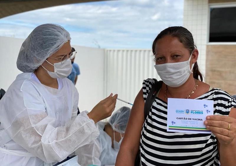 Prefeitura de Flores anuncia  mutirão para aplicação da segunda dose contra covid-19