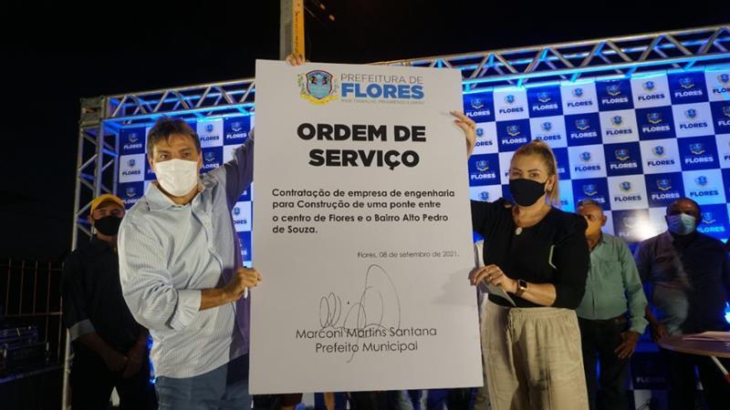 Assinada a ordem de serviço para construção de ponte no Alto Pedro de Souza