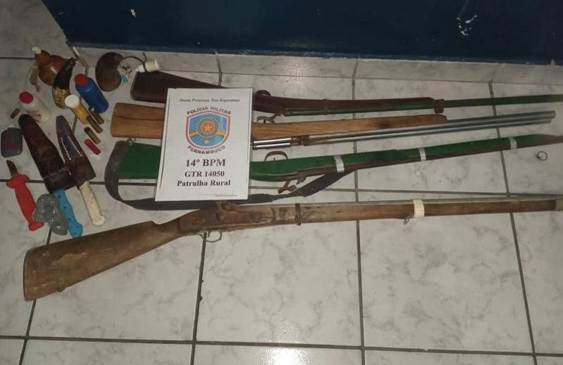 Flores: Três homens são detidos com armas, munições e instrumentos de caça